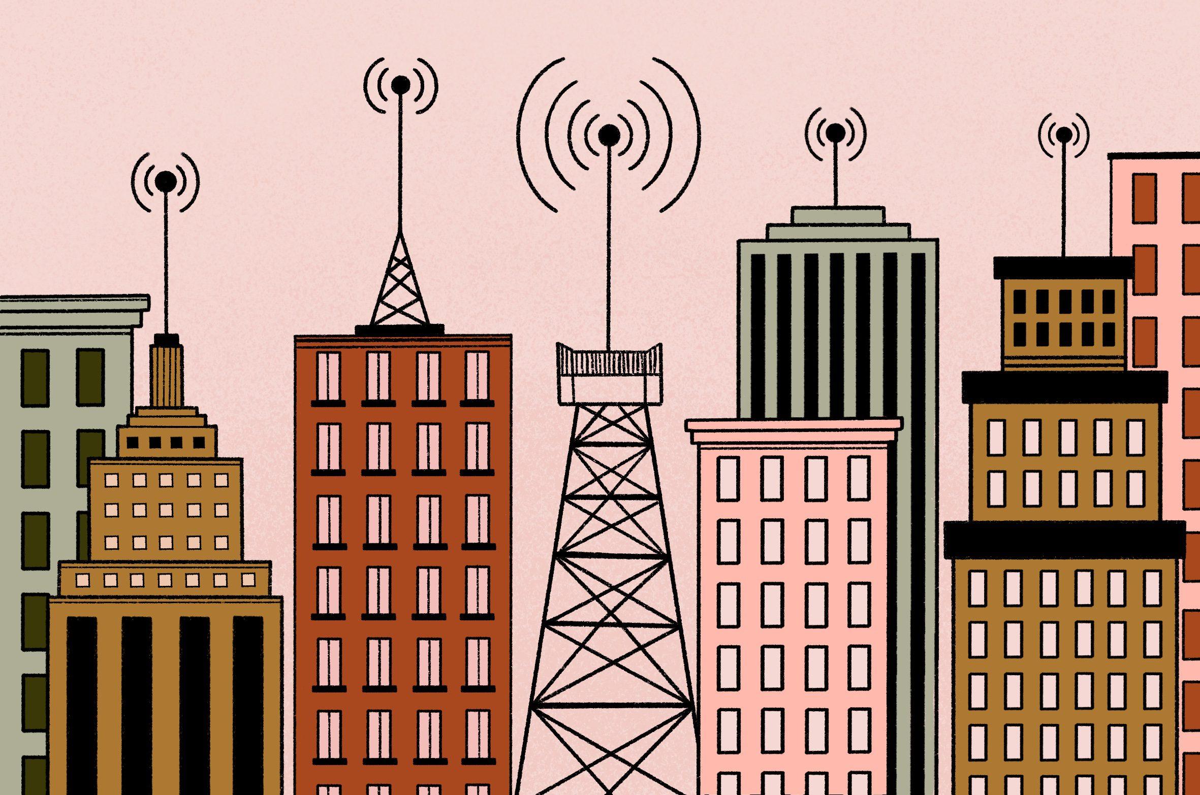 antenas; infraestrutura